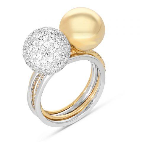 צילום טבעת זהב לבן ויהלום