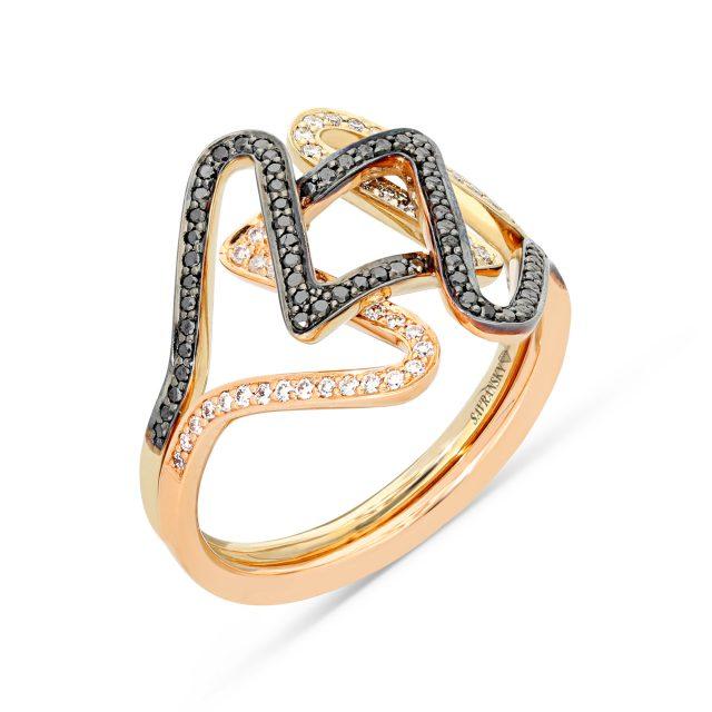 צילום טבעת יהלום שחור